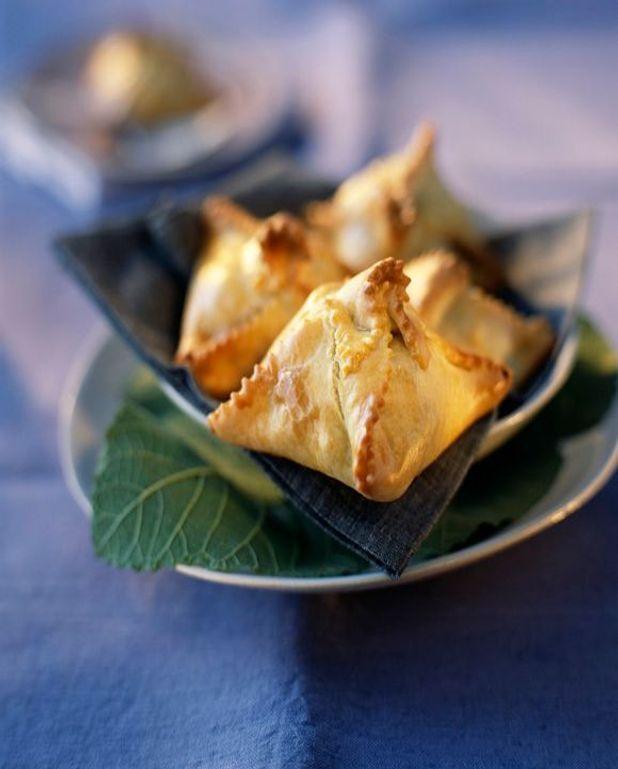 Mille-feuilles de brie au lait cru et émulsion de truffes