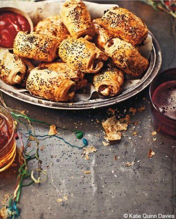 Mini-feuilletés au porc, aux pommes et aux pistaches