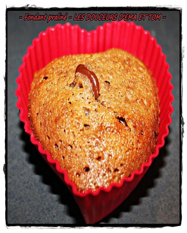 Mini-muffin au chocolat praliné