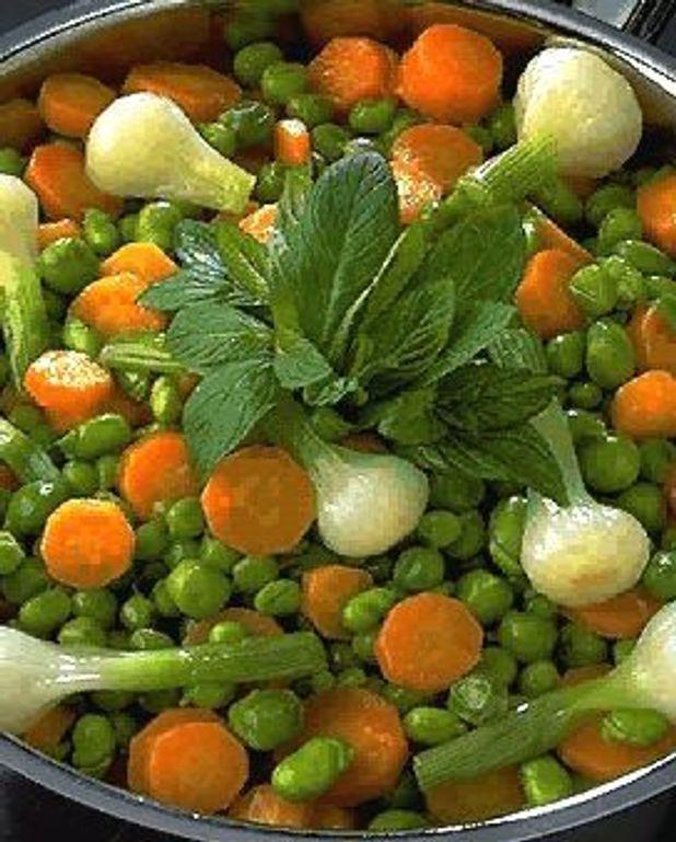 Mitonnée de jeunes légumes