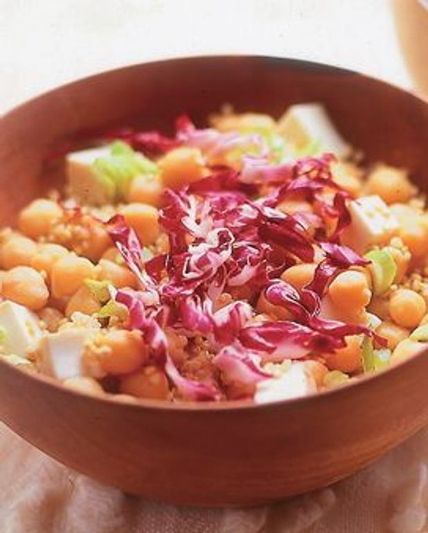 Mix de pois chiches, quinoa et tofu
