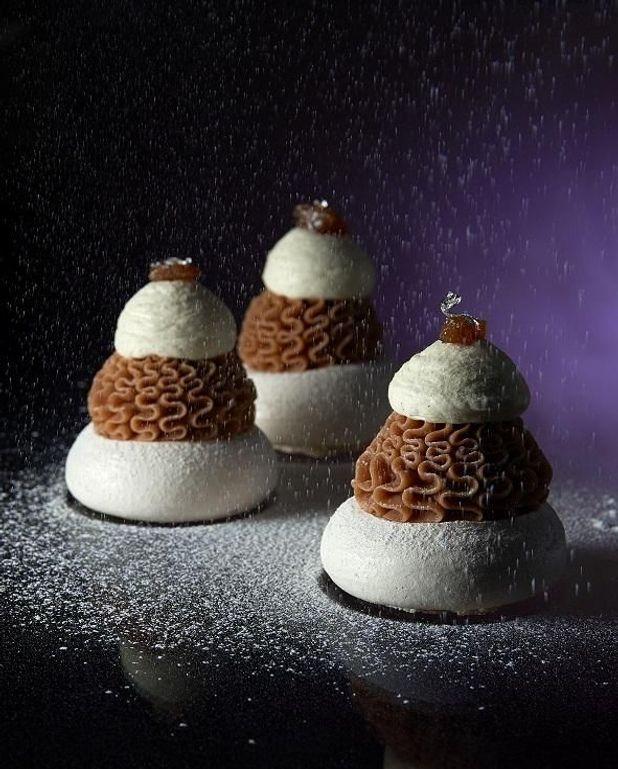 Cuisine Blanc Et Marron: Mont-blanc Marron-cassis Pour 10 Personnes