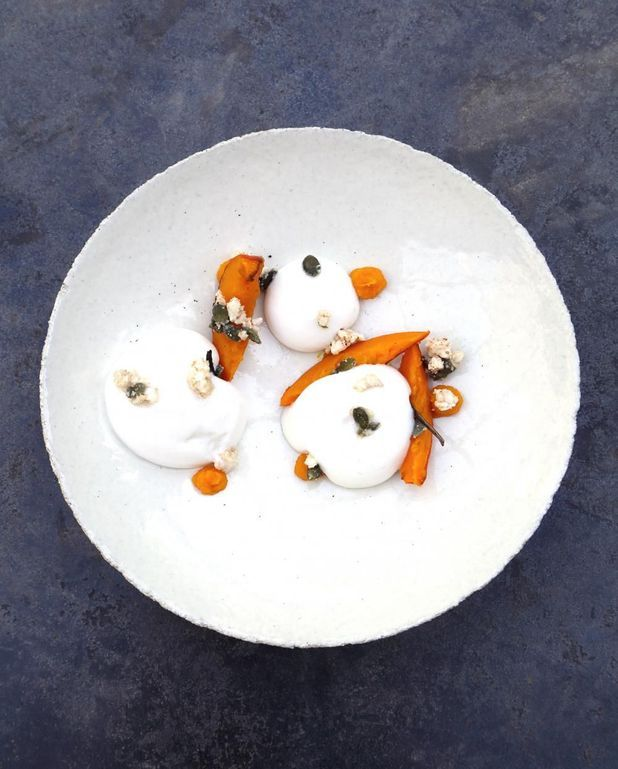 Mousse de lait de riz et potimarron vanillé d'Armand Arnal
