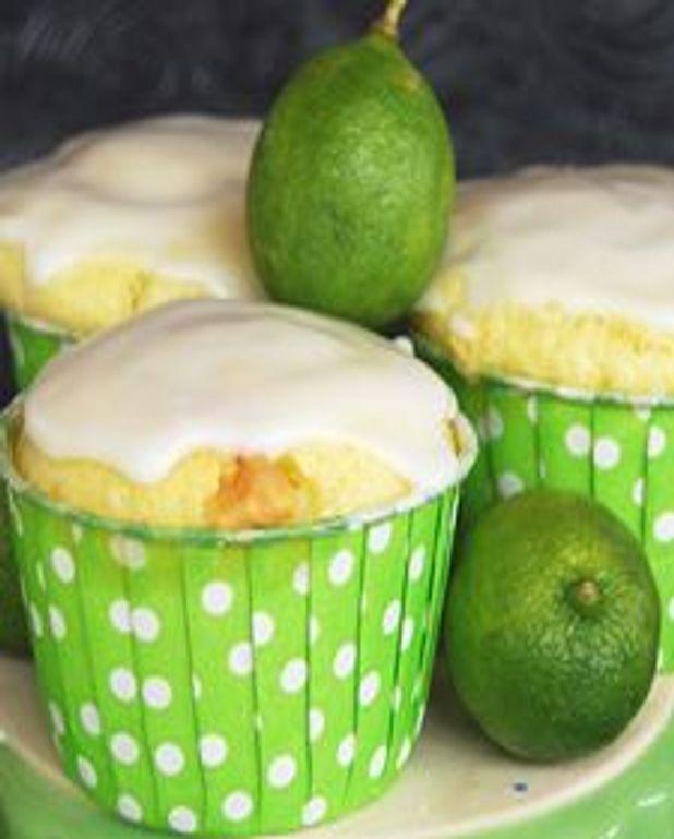 Muffins à la lime key et chocolat blanc
