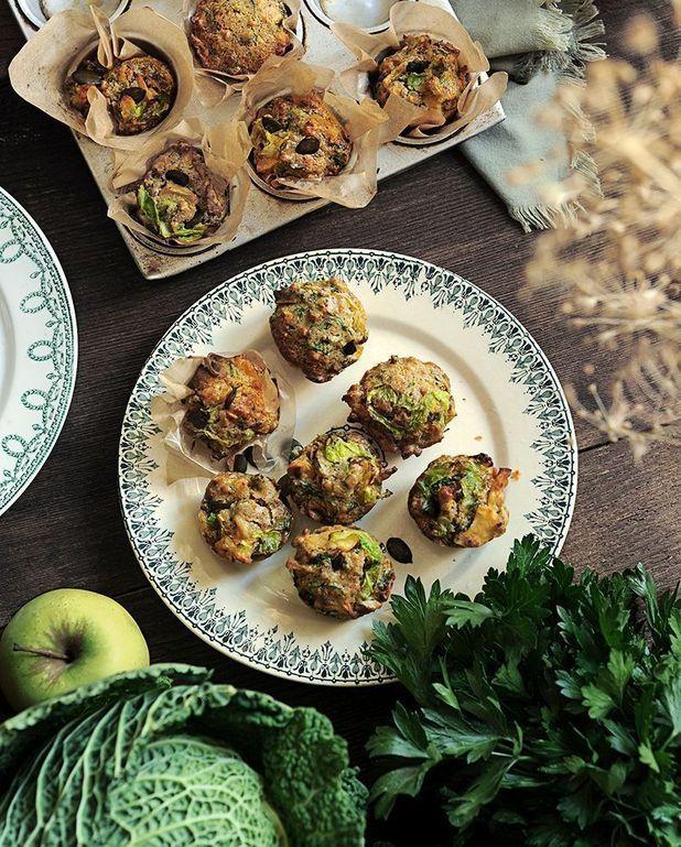 Muffins au chou et à la pomme