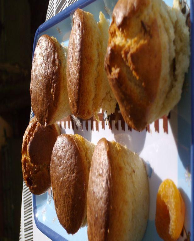 Muffins aux abricots secs