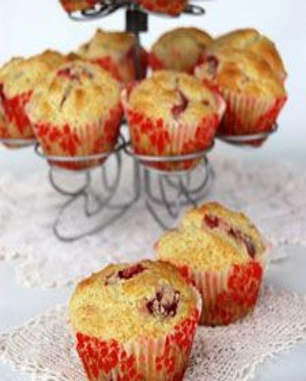 Muffins aux fraises et à la crème