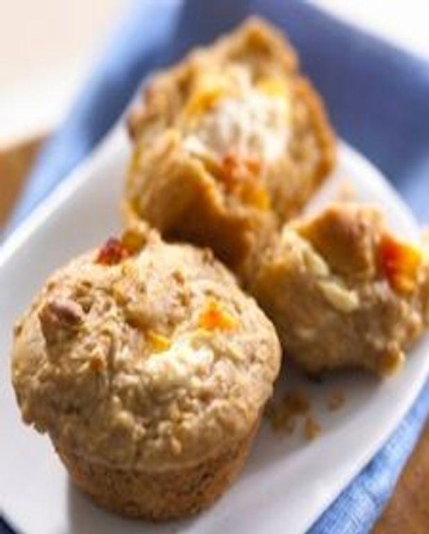 Muffins aux pêches et cannelle