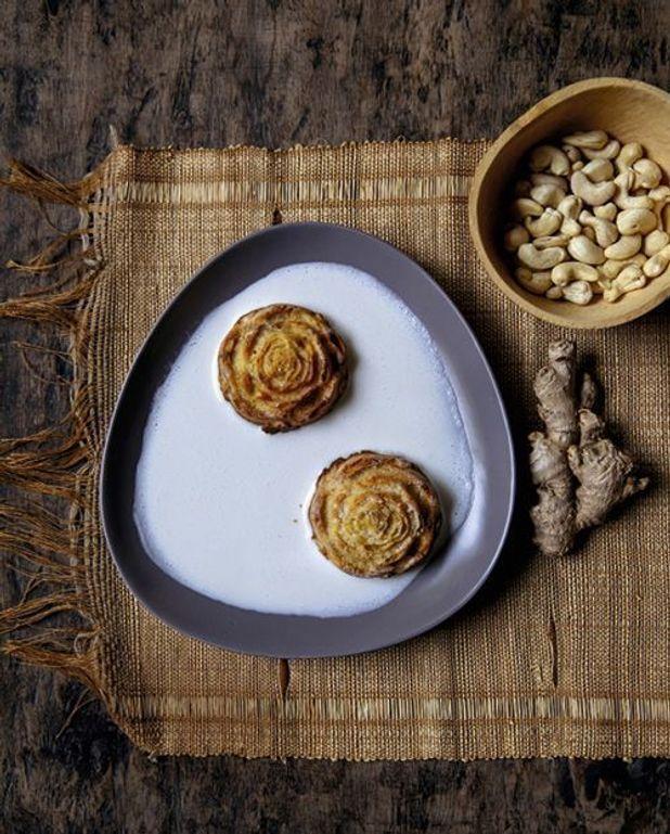 Muffins Midunu du Liberia et lait de noix de cajou