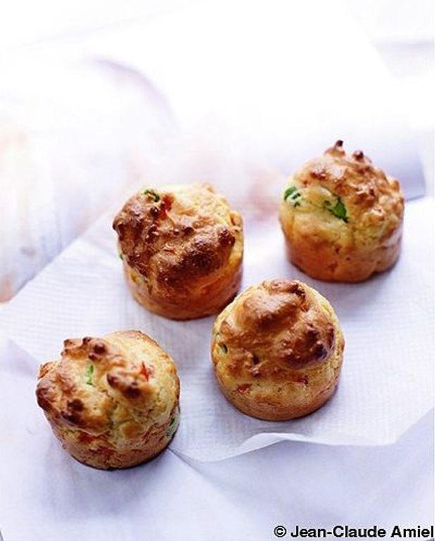 Muffins poivron  rouge et chorizo