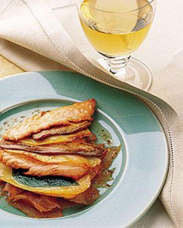 Multicolore de saumon au foie de canard