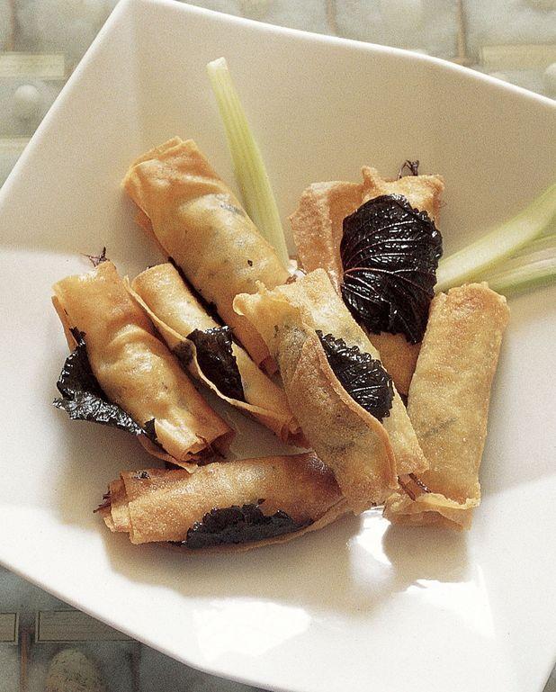 Nems de foie gras et rutabaga