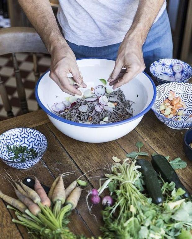 Nouilles soba du Richer aux légumes