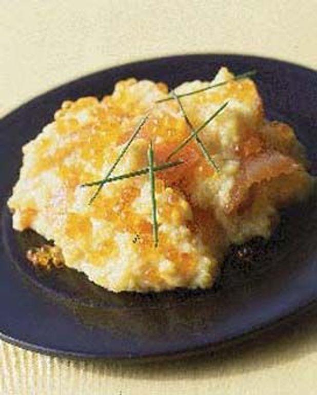 Œufs brouillés saumon et œufs de saumon