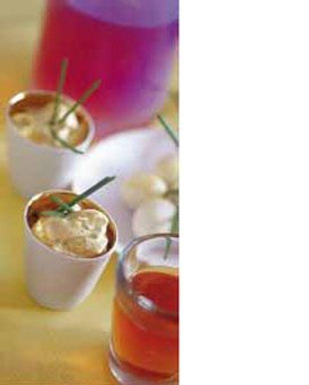 Œufs de caille à la chantilly salée