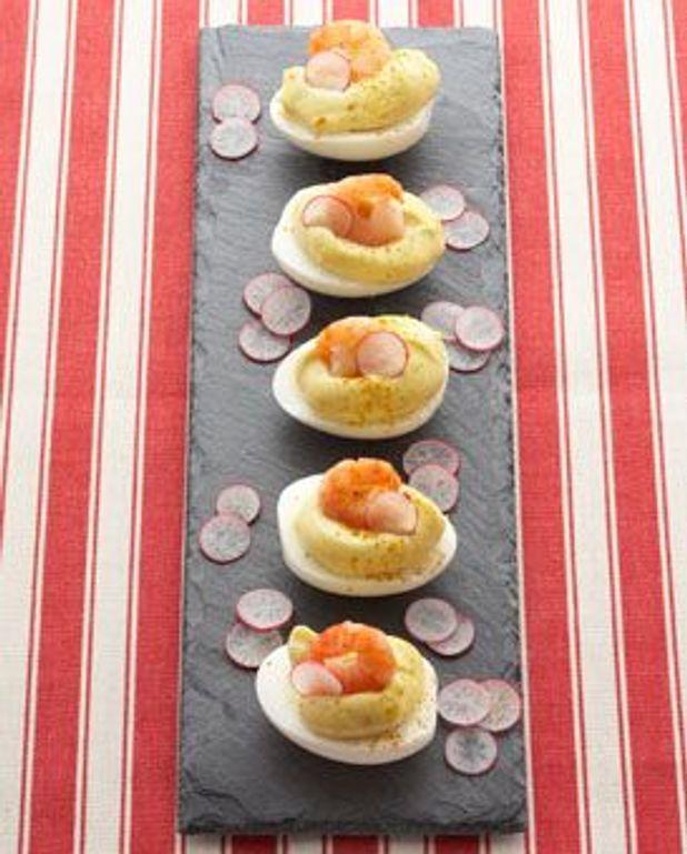 Œufs mayo-crevettes