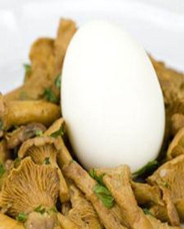 Oeufs mollets à la fricassée de champignons