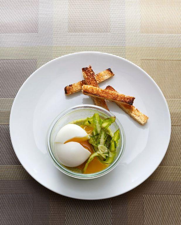 Œufs mollets aux asperges