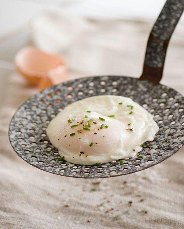 Œufs pochés à la crème fromagère