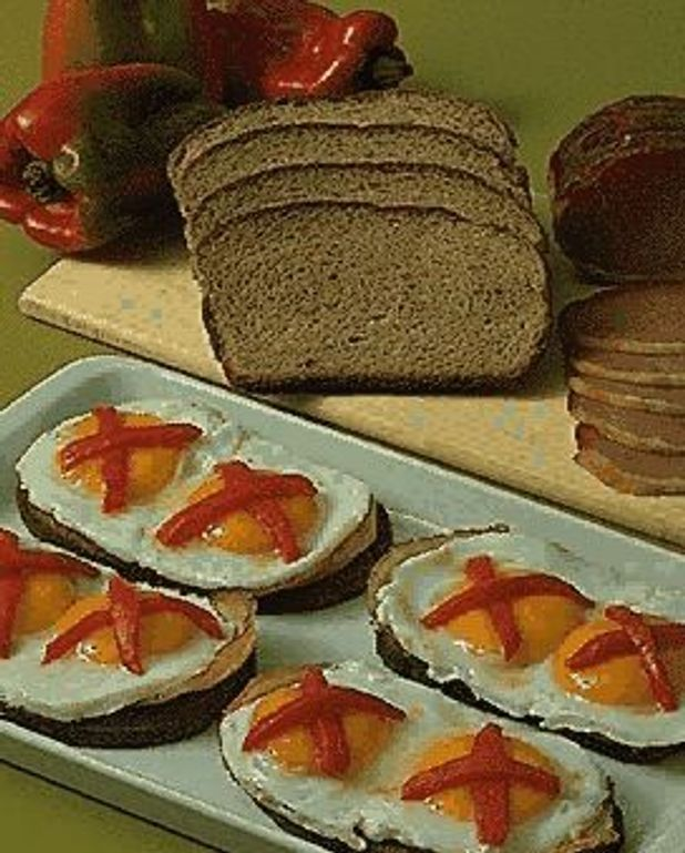 Oeufs sur toasts
