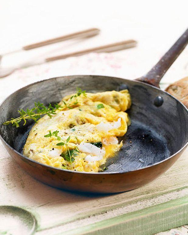 Omelette à la ricotta et à la menthe