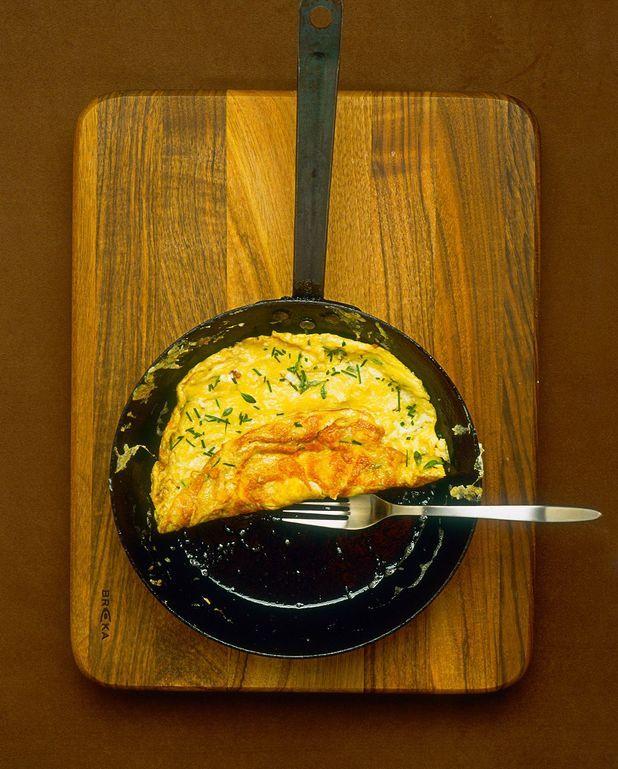 Omelette aux coeurs d'artichauts et feta