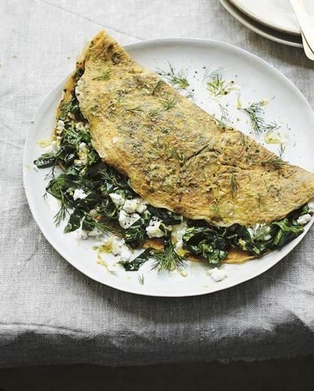 Omelette herbes fraîches et feta