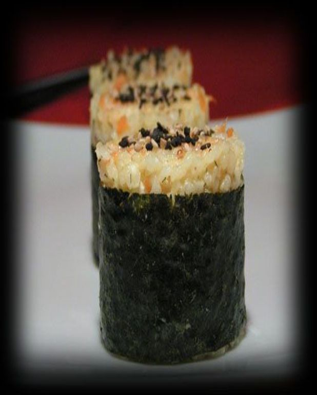 Onigiri au saumon fumé et chèvre frais
