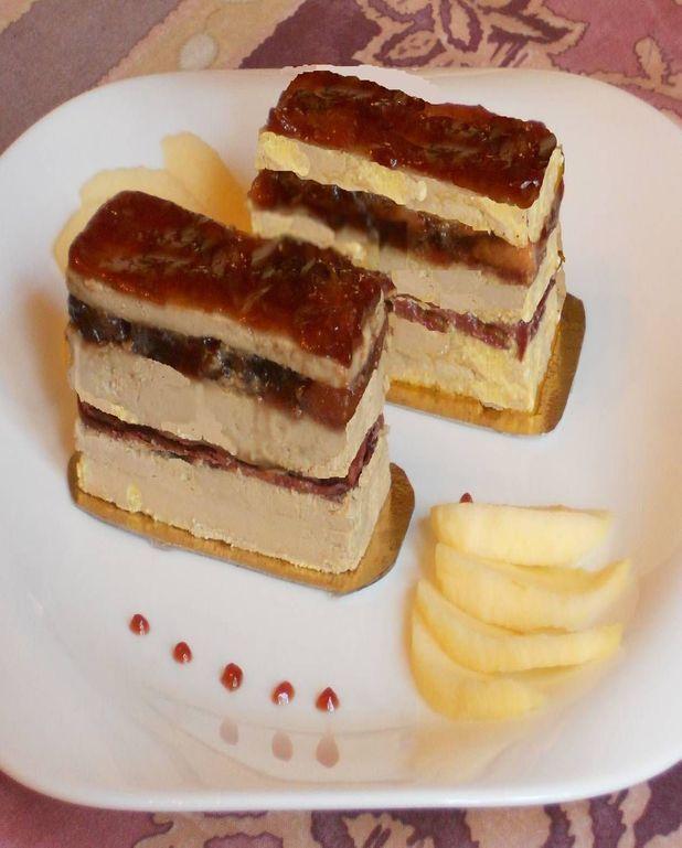 Opéra au magret et foie gras