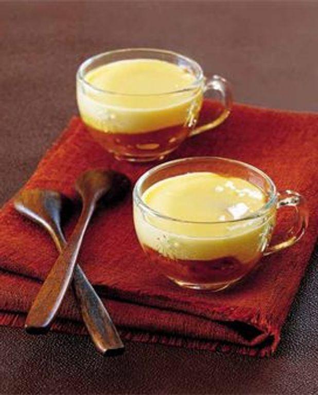 Orange sanguine au miel, crème à la vanille