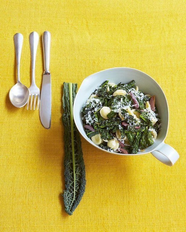 Orecchiette kale-chèvre sec