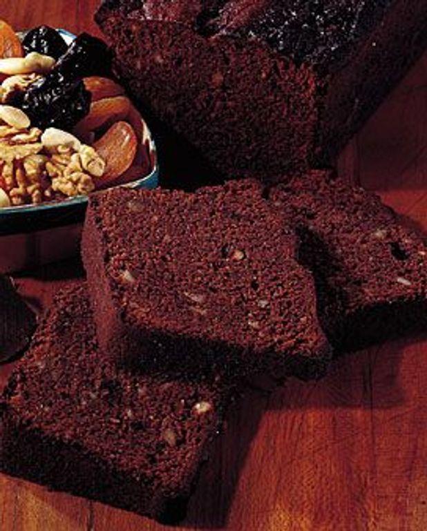Pain d'épices au chocolat et aux fruits secs