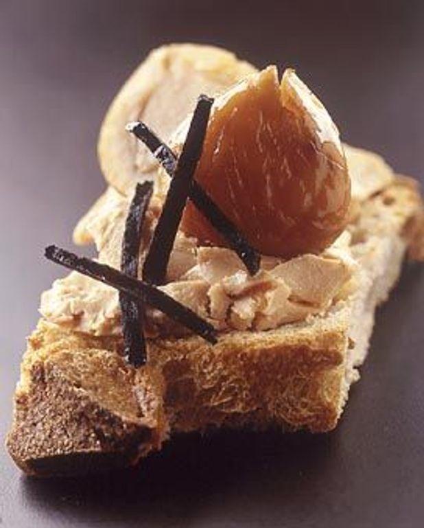 Pain de campagne, foie gras et marrons