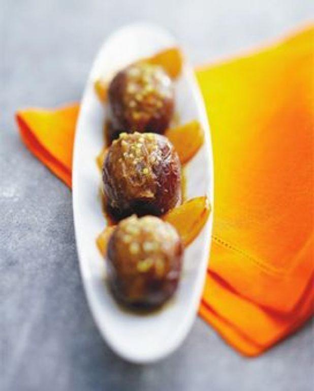 Palets de navet à l'orange et dattes