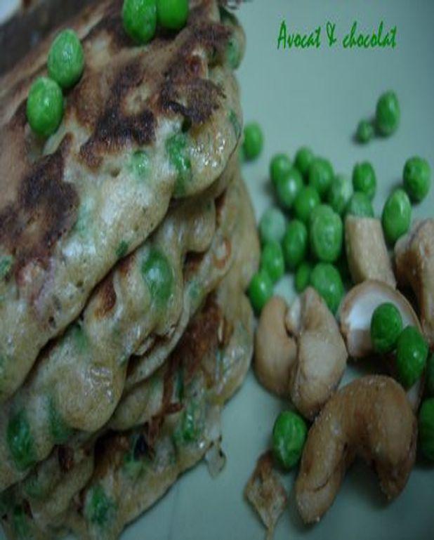 Pancake aux petits pois