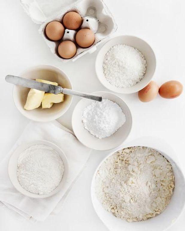 Pancakes à la farine de châtaigne, pommes caramélisées