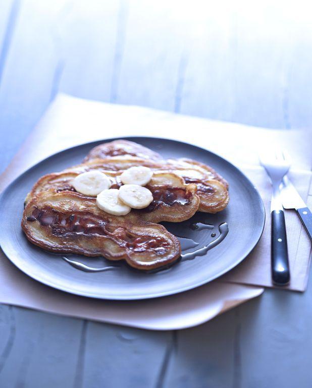 Pancakes banane-bacon au sirop d'érable