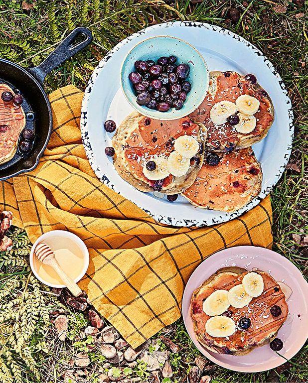 Pancakes banane-myrtille