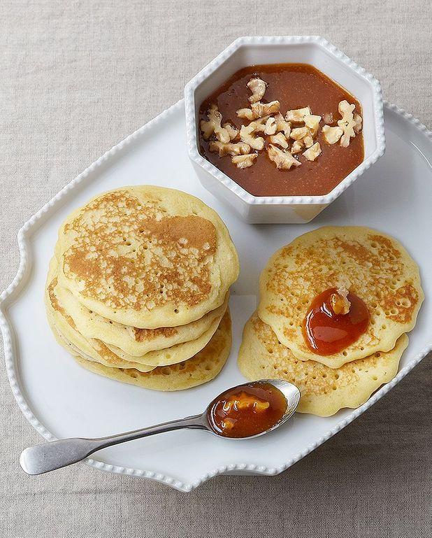 Pancakes, caramel aux fruits