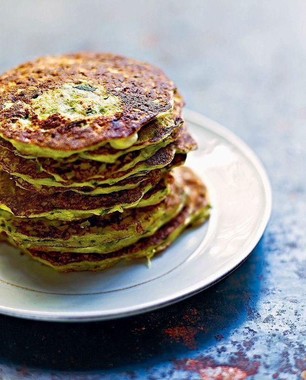 Pancakes de courgettes et ricotta à la menthe