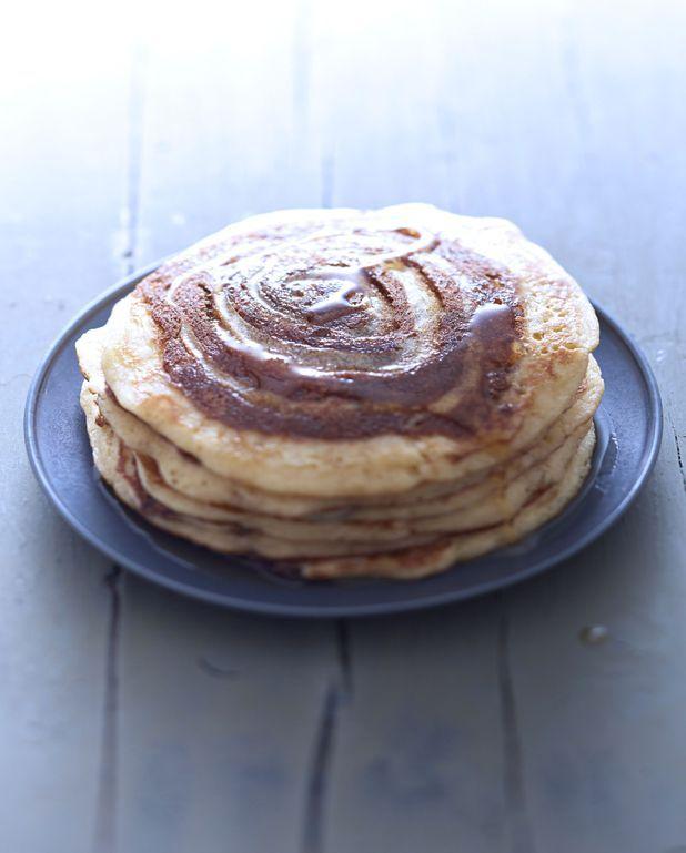 Pancakes escargot à la cannelle