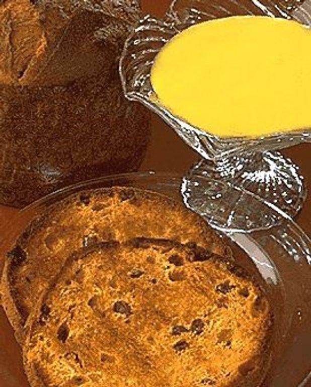 Panettone à la crème mousseuse