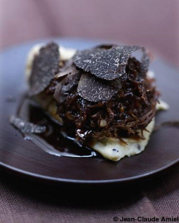Parmentier de queue de bœuf et truffe noire