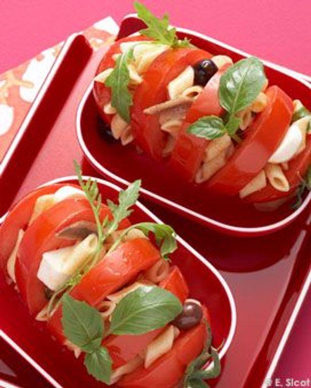 Pâtes tomates-mozza
