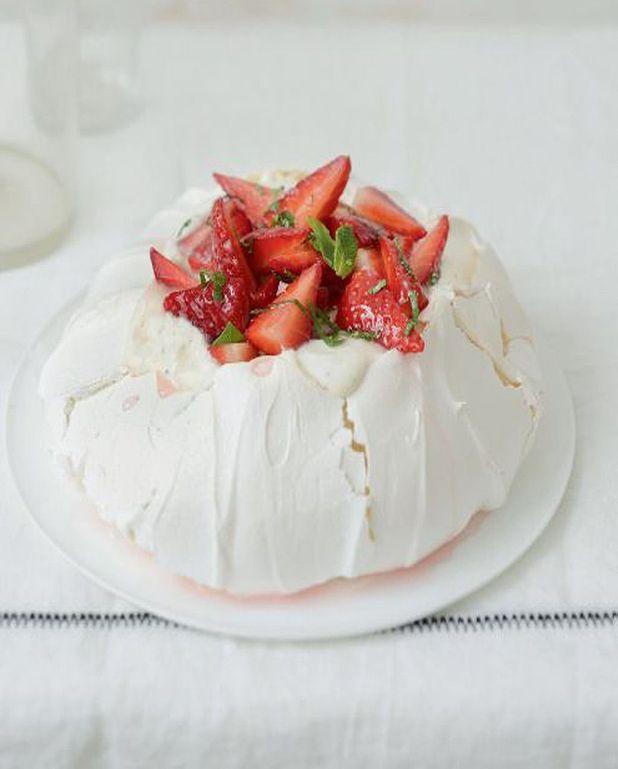 Pavlova fraise et crème vanille