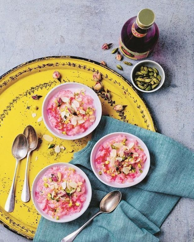 Payasam au lait de coco et rose