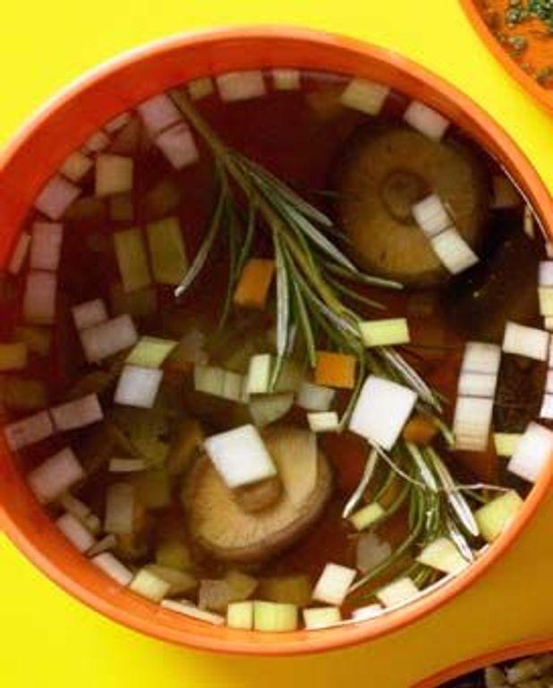 Petit bouillon miso-shitakés