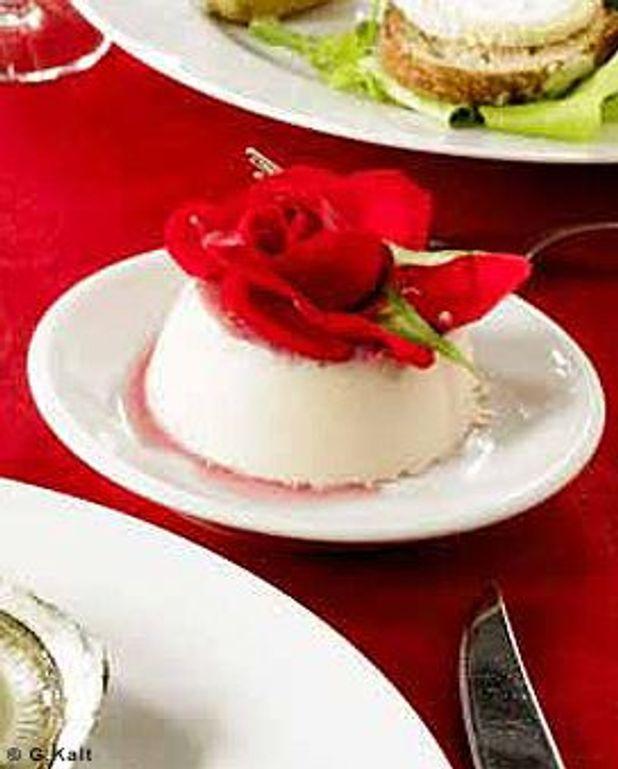 Petite crème à la rose