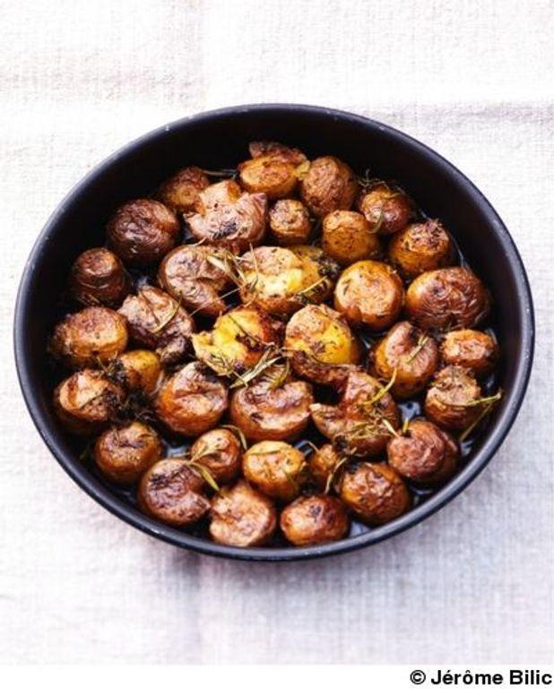 Petites pommes de terre écrasées
