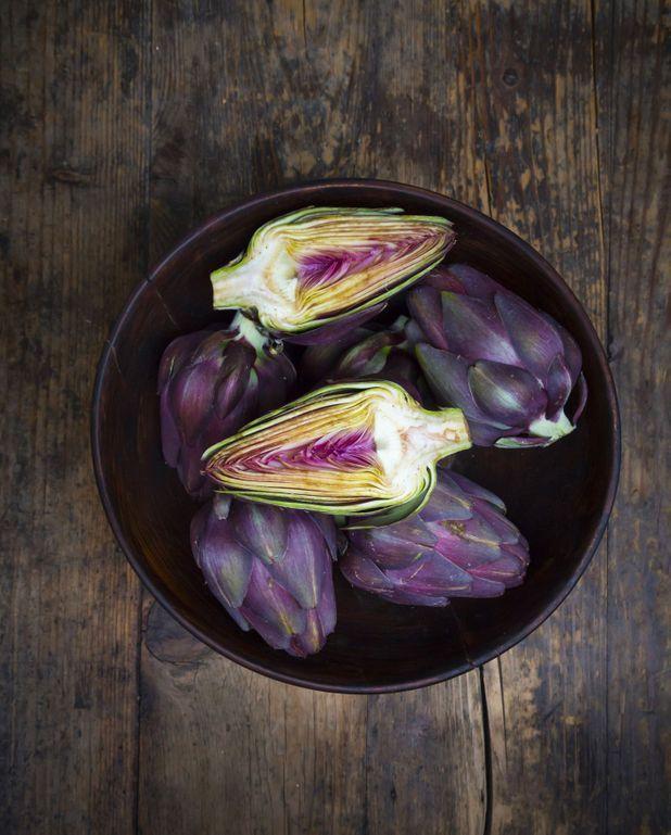 Petits artichauts violets à l'italienne